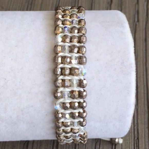 Chan Luu Jewelry - New Auth Chan Luu Silver Indian Bead & Swarovski C